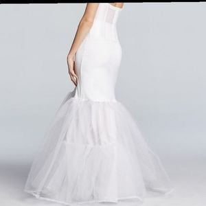 David bridal white slip Size M